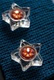 Δύο κεριά στο χαλί Στοκ Φωτογραφίες