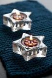 Δύο κεριά στο χαλί Στοκ Εικόνες