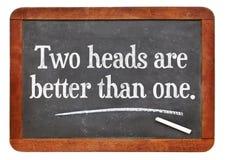 Δύο κεφάλια είναι καλύτερα από ένα Στοκ Εικόνες