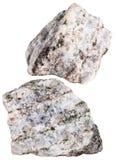 Δύο κομμάτια Apatite της ορυκτής πέτρας που απομονώνονται Στοκ φωτογραφία με δικαίωμα ελεύθερης χρήσης