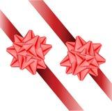 Δύο κορδέλλες με τα τόξα. Διανυσματική απεικόνιση Στοκ φωτογραφία με δικαίωμα ελεύθερης χρήσης