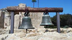 Δύο κουδούνια San Juan Capistrano Στοκ Φωτογραφίες