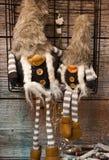 Δύο κούκλες νεραιδών Χριστουγέννων Στοκ εικόνες με δικαίωμα ελεύθερης χρήσης