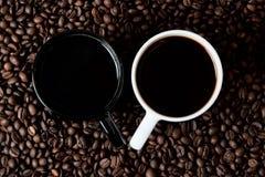 Δύο κούπες coffe Στοκ Εικόνες