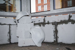 Δύο κράνη Κατασκευή Στοκ φωτογραφία με δικαίωμα ελεύθερης χρήσης