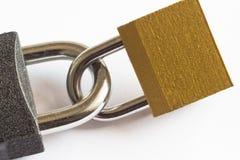 Δύο κλειστή κλειδαριά Στοκ Εικόνες