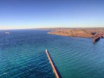 Δύο λιμάνια είναι κοινότητα στη βόρεια ακτή της λίμνης ανώτερο ι στοκ εικόνες