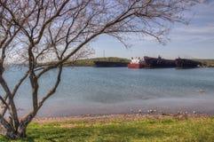 Δύο λιμάνια είναι κοινότητα στη βόρεια ακτή της λίμνης ανώτερο ι στοκ φωτογραφίες με δικαίωμα ελεύθερης χρήσης