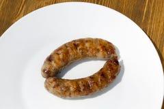 Δύο λουκάνικα χοιρινού κρέατος κρέατος Στοκ φωτογραφία με δικαίωμα ελεύθερης χρήσης