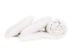 Δύο μαξιλάρια και duvet στοκ εικόνα