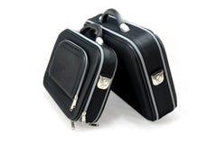 Δύο μαύρες βαλίτσες Στοκ Εικόνες