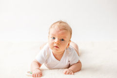 Δύο μηνών μωρών Στοκ φωτογραφίες με δικαίωμα ελεύθερης χρήσης
