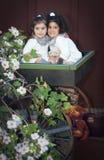 Δύο μικροί άγγελοι Στοκ εικόνα με δικαίωμα ελεύθερης χρήσης