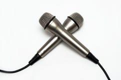 Δύο μικρόφωνα Στοκ εικόνα με δικαίωμα ελεύθερης χρήσης