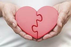 Δύο μισά μιας καρδιάς στοκ εικόνες