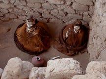 Δύο μούμιες στο νεκροταφείο Chauchilla στοκ φωτογραφία με δικαίωμα ελεύθερης χρήσης