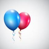 Δύο μπαλόνια Στοκ φωτογραφία με δικαίωμα ελεύθερης χρήσης
