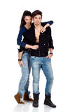 Δύο νέοι προκλητικοί εραστές που αγγίζουν με το πάθος Στοκ εικόνα με δικαίωμα ελεύθερης χρήσης