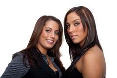 δύο νεολαίες γυναικών Στοκ Εικόνες