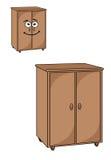 Δύο ξύλινα ντουλάπια ελεύθερη απεικόνιση δικαιώματος