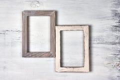 Δύο ξύλινα πλαίσια φωτογραφιών Στοκ εικόνες με δικαίωμα ελεύθερης χρήσης