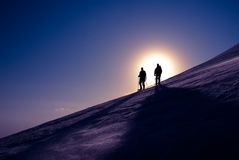 Δύο ορειβάτες Στοκ Φωτογραφία