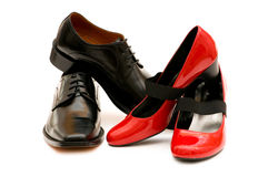 Δύο παπούτσια που απομονώνονται Στοκ εικόνα με δικαίωμα ελεύθερης χρήσης