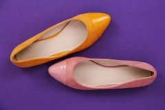 Δύο παπούτσια Ballerina στοκ φωτογραφίες