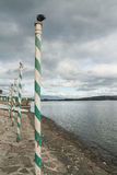 Δύο περιστέρια Arona, λίμνη Maggiore Στοκ εικόνα με δικαίωμα ελεύθερης χρήσης