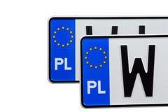 Δύο πινακίδες αριθμού κυκλοφορίας Στοκ φωτογραφία με δικαίωμα ελεύθερης χρήσης