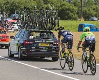 Δύο ποδηλάτες - γύρος de Γαλλία 2017 Στοκ Εικόνες