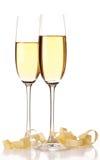 Δύο ποτήρια της σαμπάνιας. Στοκ Φωτογραφία