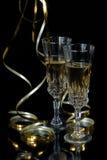 Δύο ποτήρια της σαμπάνιας Στοκ εικόνες με δικαίωμα ελεύθερης χρήσης