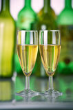 Δύο ποτήρια της σαμπάνιας Στοκ Εικόνα