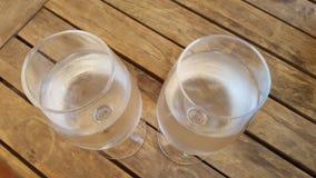 Δύο ποτήρια του νερού Στοκ Φωτογραφίες