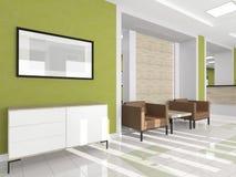 Δύο πολυθρόνες στον εσωτερικό διάδρομο διανυσματική απεικόνιση