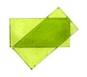 Δύο πράσινα κεραμίδια γυαλιού Στοκ φωτογραφίες με δικαίωμα ελεύθερης χρήσης