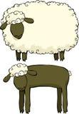 Δύο πρόβατα διανυσματική απεικόνιση