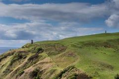 Δύο πύργοι πυρκαγιάς Berriedale, Σκωτία Στοκ φωτογραφία με δικαίωμα ελεύθερης χρήσης