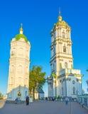 Δύο πύργοι Pochayiv Lavra Στοκ Εικόνα
