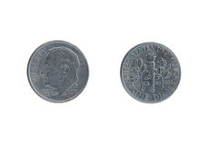 Δύο πλευρές του ίδιου νομίσματος μια δεκάρα στοκ φωτογραφίες με δικαίωμα ελεύθερης χρήσης