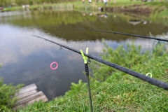 Δύο ράβδοι αλιείας Στοκ Φωτογραφίες