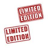 Δύο ρεαλιστικές vector Limited σφραγίδες εκδόσεων Στοκ φωτογραφία με δικαίωμα ελεύθερης χρήσης