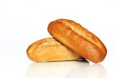 Δύο ρόλοι ψωμιού στοκ εικόνα με δικαίωμα ελεύθερης χρήσης