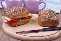 Δύο σάντουιτς Στοκ Εικόνες