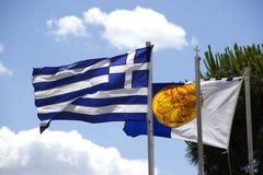 Δύο σημαίες στοκ φωτογραφία