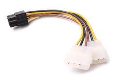 Δύο συνδετήρες Molex σε έναν συνδετήρα του PCI Express 6 καρφιτσών στοκ φωτογραφίες με δικαίωμα ελεύθερης χρήσης