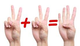Δύο συν δύο είναι ίσα με τέσσερα Στοκ Φωτογραφίες