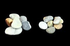 Δύο σωροί των πετρών Στοκ Φωτογραφίες