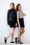 Δύο σύγχρονα κορίτσια μόδας Στοκ εικόνες με δικαίωμα ελεύθερης χρήσης